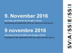 9. November 2016 9 novembre 2016