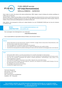 PIXIEL GROUP recrute H/F Un(e) Electronicien(ne)