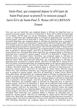 Saint-Paul, qui comprend depuis le départ de Saint