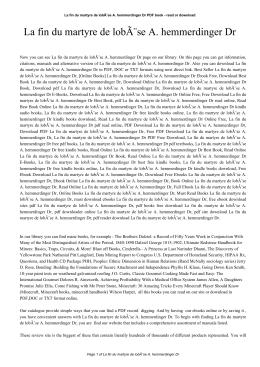 La fin du martyre de lobèse A. hemmerdinger Dr