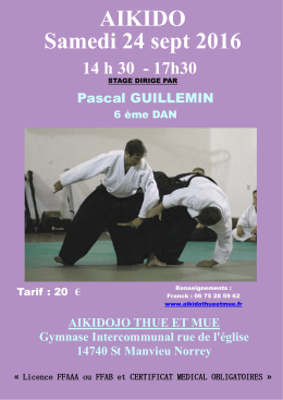 affiche - Aikidojo Thue et Mue