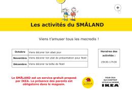 Les activités du SMALAND