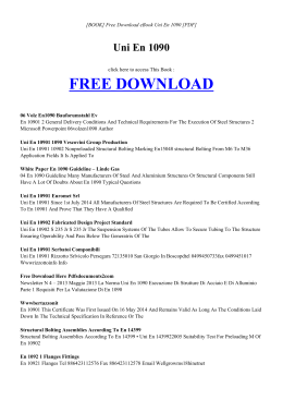 UNI EN 1090 | Free eBook