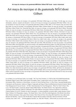 Art maya du mexique et du guatemala Médioni Gilbert
