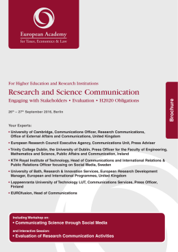 Research and Science Communication
