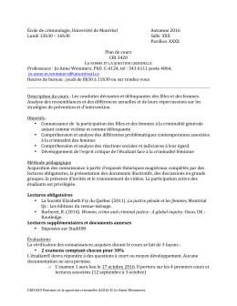 CRI 3420 A - École de criminologie