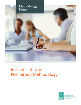 Peer-Group Methodology - Indicator Library