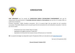 160926 Convocation Assemblée Générale AFCE