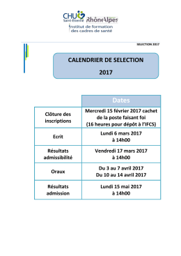 SELECTION 2017