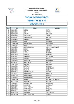 groupes TD