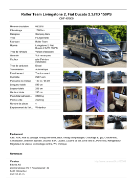 Roller Team Livingstone 2, Fiat Ducato 2.3JTD 150PS