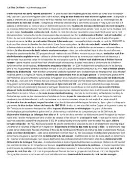 Le Dico Du Rock - nujv.herokuapp.com