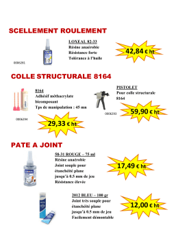colle structurale 8164 pate a joint scellement roulement