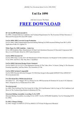 UNI EN 1090 - INDEX | Free eBook