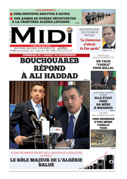 bouchouareb répond à ali haddad