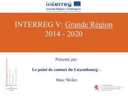 INTERREG V: Grande Région 2014