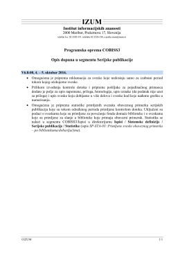 COBISS3 Serijske publikacije SR