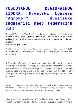 dvostruko zaduženiji nego Federacija BiH!