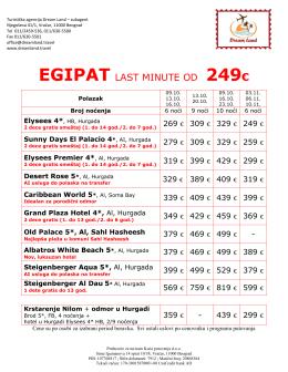 egipat last minute od 249