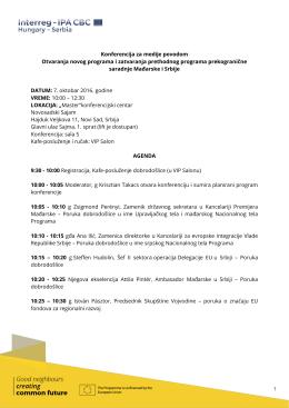Konferencija za medije povodom Otvaranja novog programa i