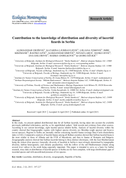 Contribution to the knowledge of distribution and diversity of lacertid