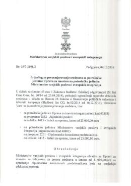 obrazloz€nje - Vlada Crne Gore
