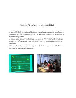 Matematičke radionice – Matematički kofer