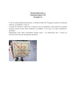 Matematički kofer u Naučnom klubu CSU Kragujevac