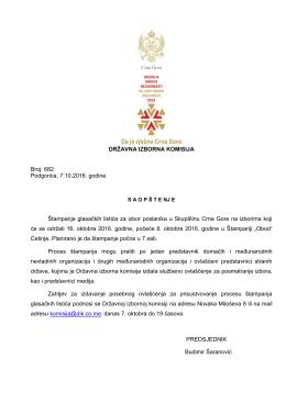 SAOP Š TE NJ E - Državna izborna komisija