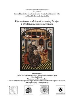Písomníctvo a vzdelanosť v strednej Európe v stredoveku a ranom
