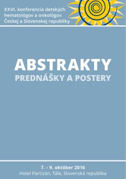 prednášky a postery