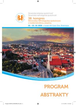 Stiahnuť program - 38. kongres Slovenskej nefrologickej spoločnosti