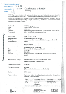 licjitor - Liptovský Mikuláš