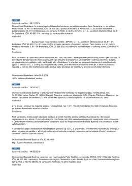 K022813 Spisová znaćka: 8K/11/2014 Okresnę súd