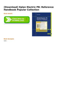 [Download] Eplan Electric P8: Reference Handbook Popular