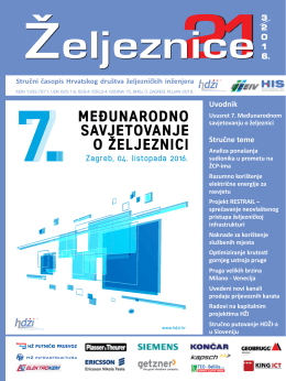 2016/3 - Hrvatsko društvo željezničkih inženjera
