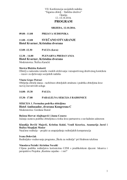 program - Hrvatska udruga socijalnih radnika