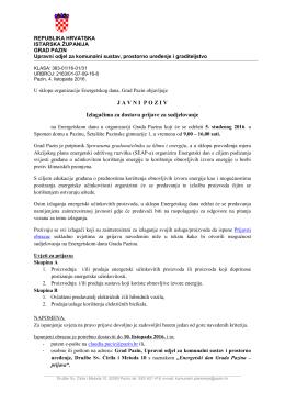 javni poziv - Grad Pazin