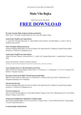 mala vila bajka | free ebook