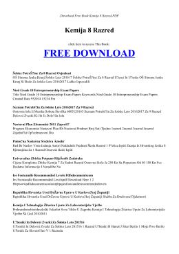 kemija 8 razred | free ebook
