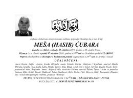 MEŠA (HASIB) ĆUBARA