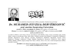 Dr. MUHAMED (FEVZIJA) DERVIŠBEGOVIĆ