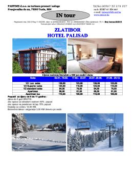 Zlatibor - hotel Palisad