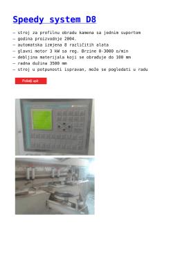 Speedy system D8