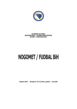 Službeni glasnik broj 687 - Nogometni/fudbalski savez Bosne i
