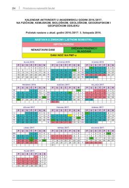 Kalendar nastave-2016