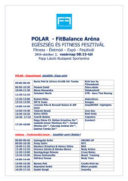 POLAR – FitBalance Aréna Órarend