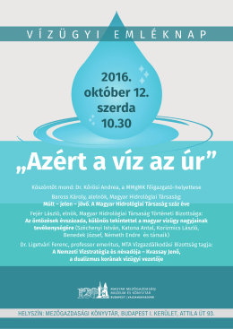 Tovább... - Magyar Hidrológiai Társaság