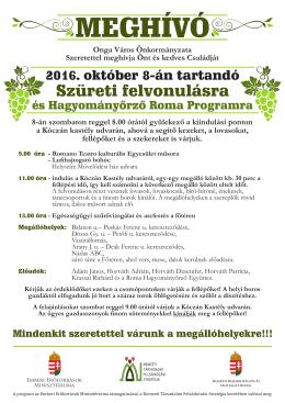 Plakát - Onga város honlapja