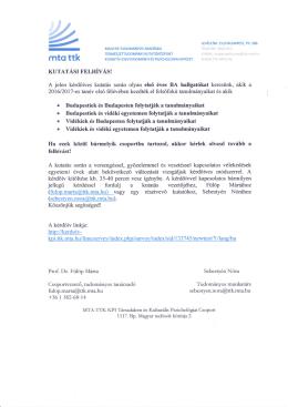 Felhívás letöltése PDF formátumban!